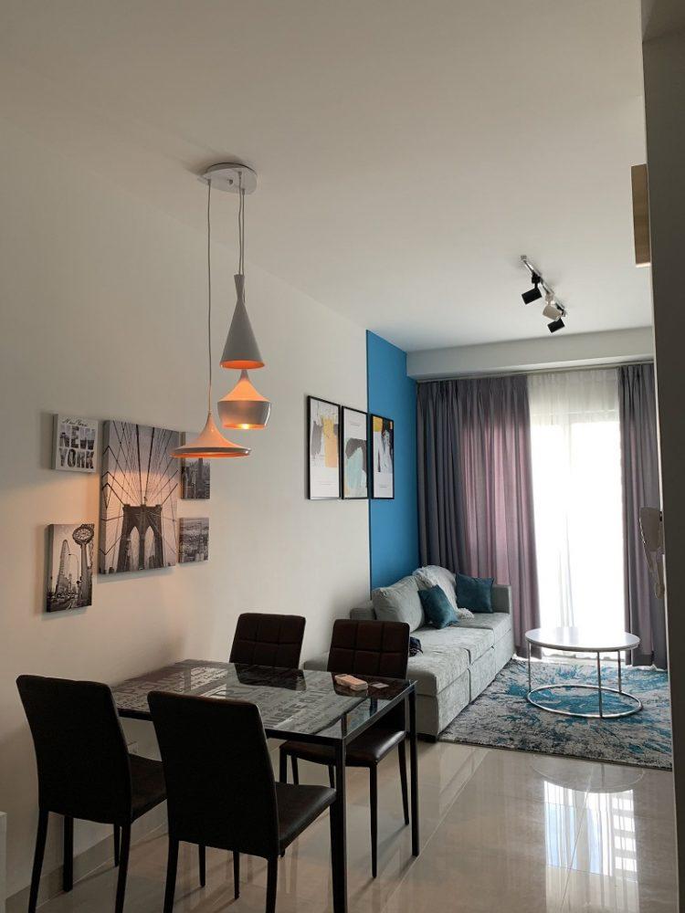 thiết kế căn hộ 1 phòng ngủ the sun avenue đẹp