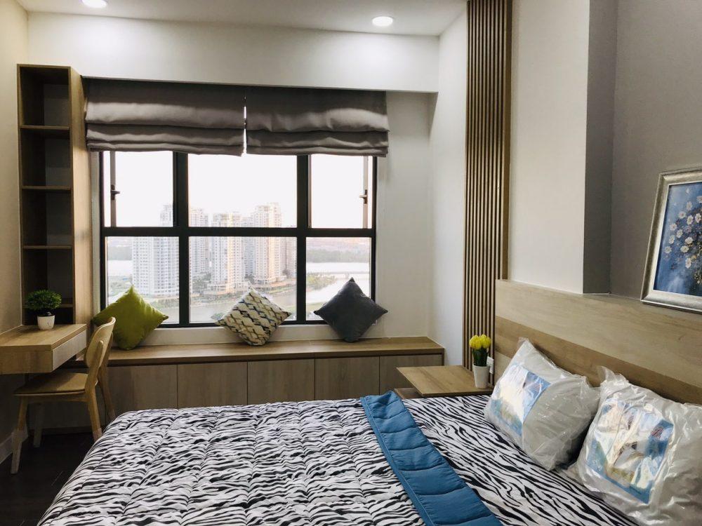 hình thiết kế 2 phòng ngủ the sun avenue novaland đẹp